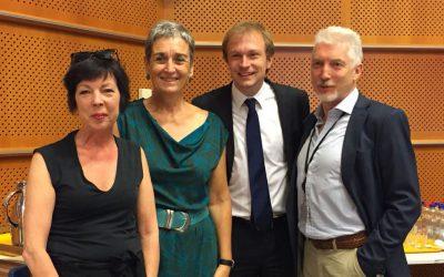 The EuCalc team visits the European Parliament