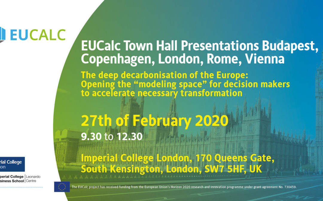 EUCalc Town Hall Presentations Budapest, Copenhagen, London, Rome, Vienna in February 2020